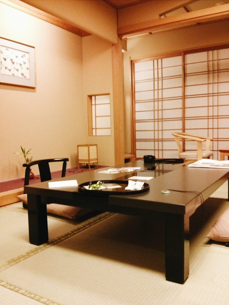 A traditional tatami room at the Biwako Honakaido. Our first full day and I was already spoiled rotten.
