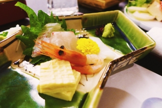 I call this one: Sashimi Reclining on Shiso [Leaf]