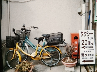 Finding moments of silence has never been easier. Did the owners of these bikes colour coordinate?