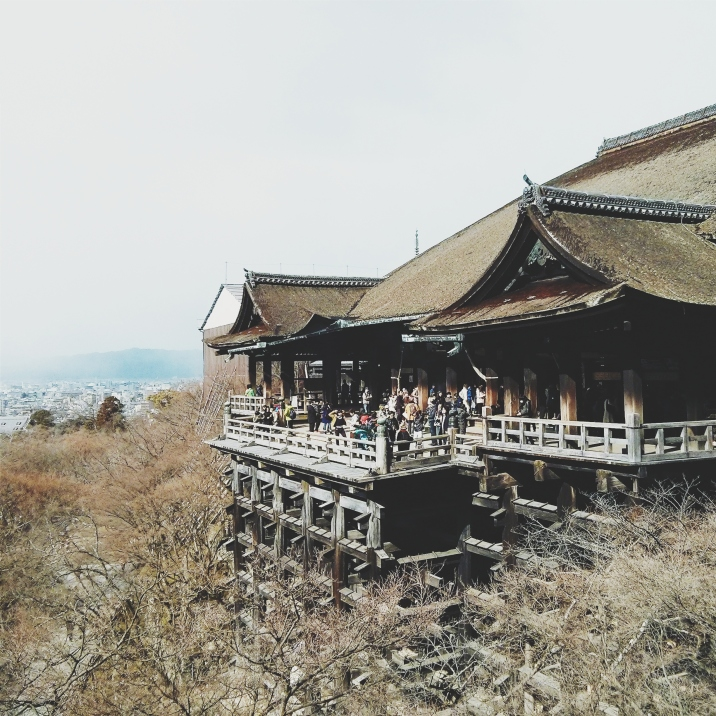 Perks of visiting in the off-season? Stunning views of Kiyomizu Temple with minimal throngs of people heads :)