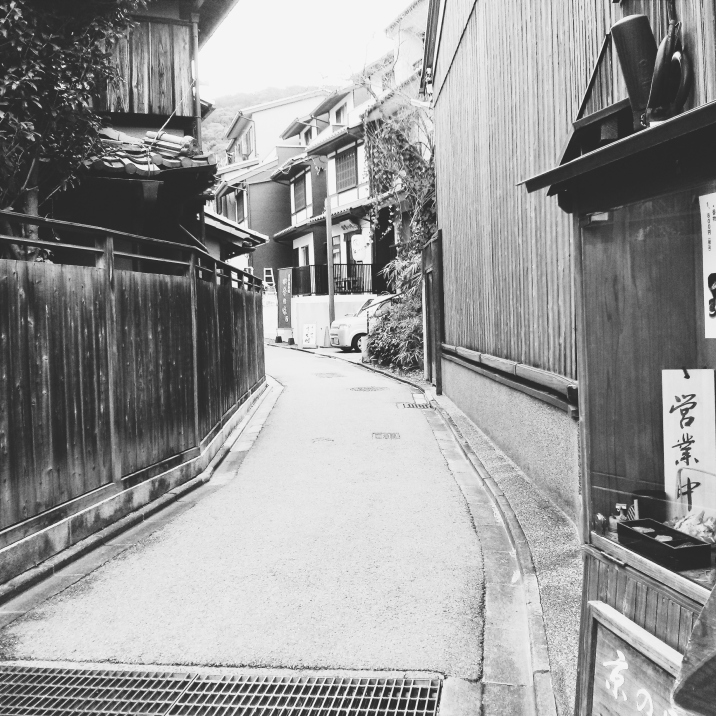 The streets around Kiyomizu are some of the oldest and most well-preserved in Kyoto. It's all too easy to pause, look down one of them, and wonder if you're looking back a few centuries.