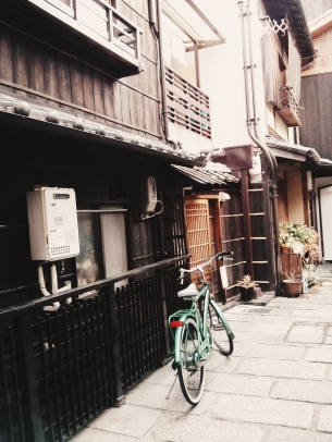 A fine example of Kyoto's characteristic machiya.